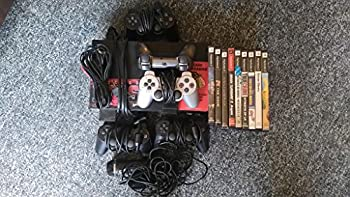 Sony Playstation 2 PS2 Fat Black Video Game System Console Large Huge Bundle Lot with Games