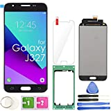 LCD Screen Replacement Touch Digitizer Display Assembly for Samsung Galaxy J3 2017 Prime Emerge Luna Pro J327 J327A J327V J327P J327T1 J327R4 with Repair Tools & Protector (Black)