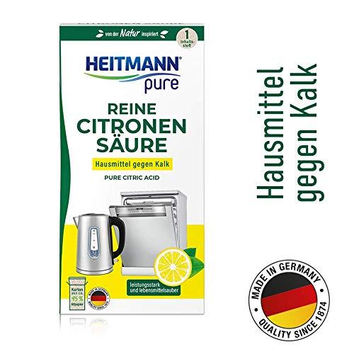 Heitmann pure Reine Citronensäure: Ökologischer Bio-Entkalker - hygienische Reinigung - Pulver, 1x 350 g