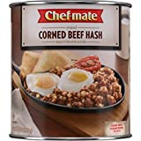 Chef-mate Corned Beef Hash, Canned Food and Canned Meat, 6 lb 11 oz (#10 Can Bulk)