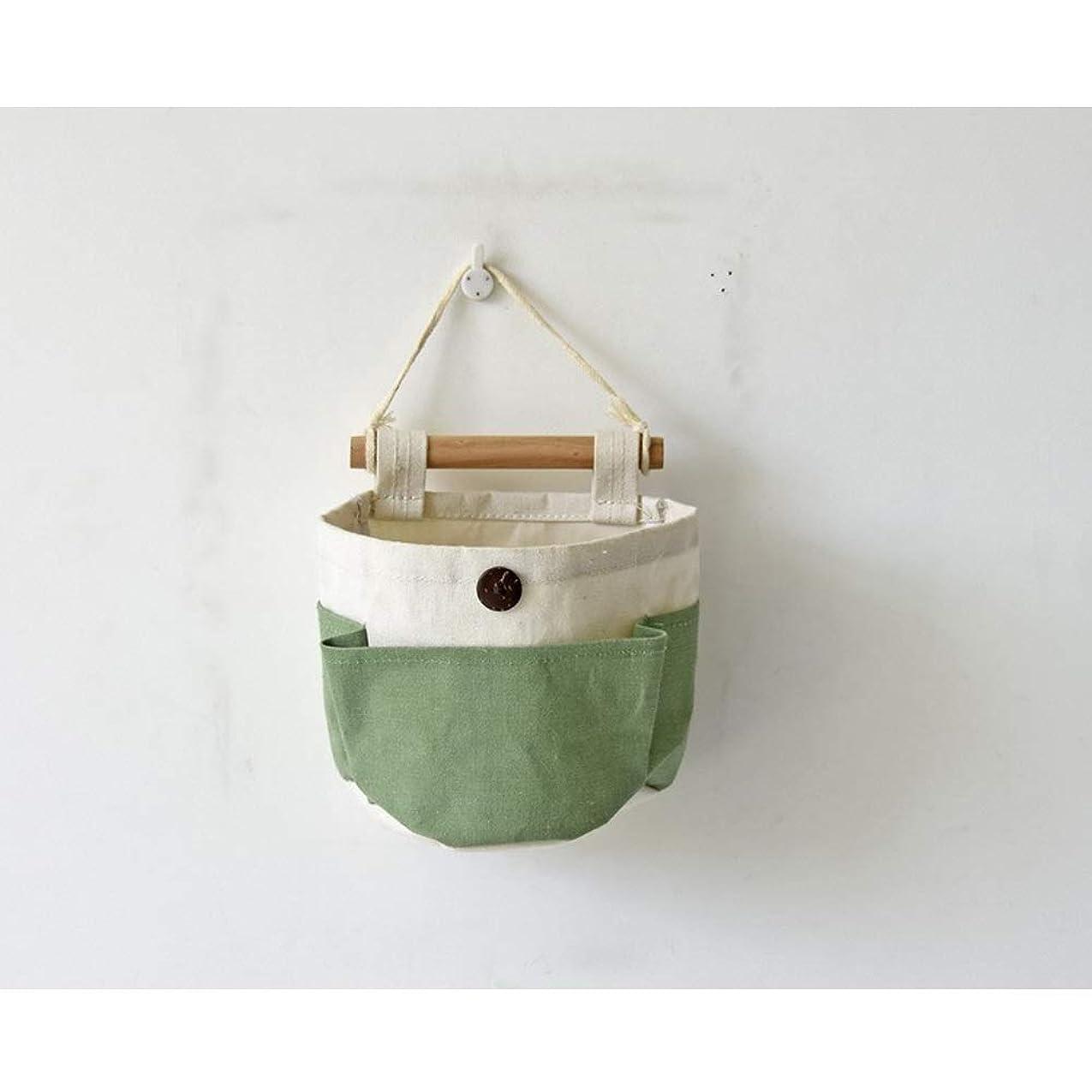 コマース組み込むボーカル壁掛け収納袋 ストレージハンギングバッグキャンディーカラータンデムハンギングバッグDIYコンビネーションストレージバッグ多機能壁掛けバッグ ストレージハンギングバッグ (Color : Green, Size : 14.5cm x 13cm x 7.5cm)