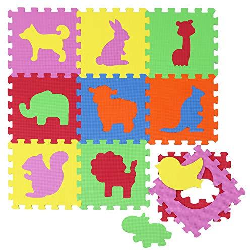 Alfombras Puzzle para Bebé Alfombrilla Niños Suelo Goma EVA Animales