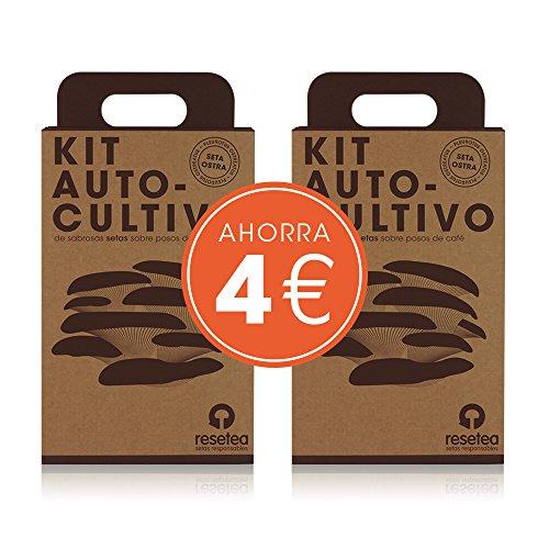 Pack Ahorro 2 Kits Autocultivo de seta ostra
