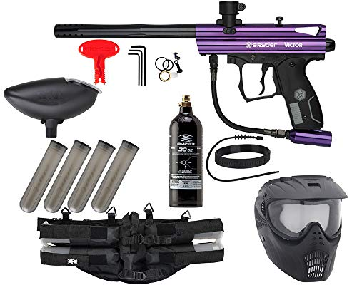 Action Village Kingman Spyder Epic Paintball Gun Package Kit Victor Purple