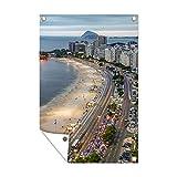 Gartenposter - Ende der Copacabana - 120x180 cm