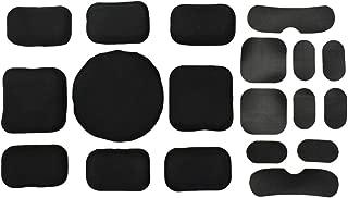 JFFCESTORE Tactical Helmet Padding Accessories Replacement Helmet EVA Mats, Hook and Loop 19 Pads Set for Fast ACH MICH USMC PASGT Helmets Black