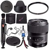 Sigma 35mm f/1.4 DG HSM アートレンズ ソニー デジタル一眼レフカメラ # 340205 + レンズペンクリーナー + マイクロファイバークリーニングクロス + レンズキャップキーパー + 柔軟な三脚バンドル (国際モデル保証なし)