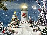 Pintura de diamante de círculo completo nieve 5D DIY bordado casa mosaico punto de cruz decoración de Navidad pintura de diamante para el hogar A5 45x60cm