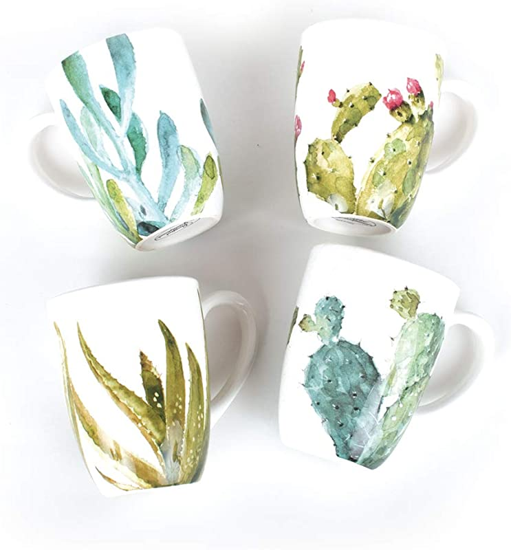 Cactus Verde Mug Set Of 4