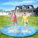 Sprinkler Pad,68inch Sprinkle and Splash Pad Play Mat Toy, Inflatable Sprinkler Play Mat