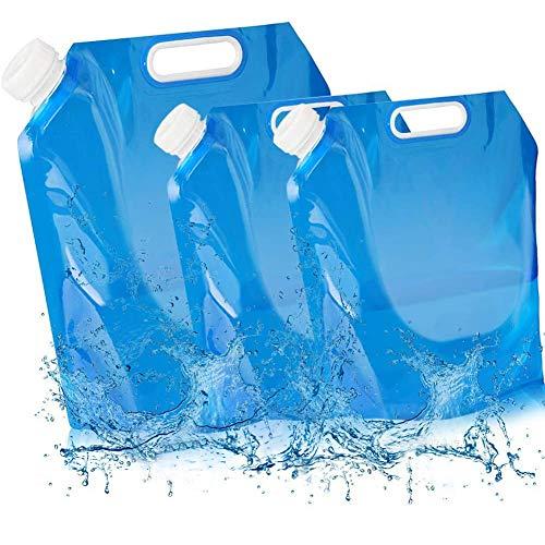 BESTZY 3Pack Recipiente de Agua Plegable,2 x 5 L+ 10 L Bidón de Agua Plegable,(3 juegos/20 L)