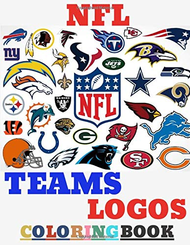 NFL TEAMS LOGOS coloring book: Enjoy Colouring HD Images Illustration of NFL TEAMS LOGOS | Fun For Every Age and Stage AMERICAN FOOTBALL FANS! ( 66 Pages A4 Size)