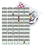 MamboCat 50er Set Sturzglas 125 ml Marmeladenglas Einmachglas Einweckglas to 66 silberner Deckel...
