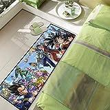 llc Alfombra Lavable Decoración De Todos Los Partidos Animación Dibujos Animados Dragon Ball Goku Piso Felpudo Largo Habitación De Los Niños Manta De Noche Cocina