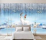 Zyywan Papel Tapiz Fotográfico Personalizado Moderno Minimalista Nordic Elk Relieve Decoración Mural De La Casa Para Habitación De Niños-400cmx280cm