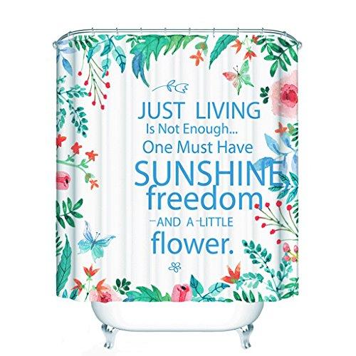 YXN polyester badkamer douchegordijn verdikking douchegordijn doek waterdicht en meeldauw badkamer douchegordijn scheidingsgordijn