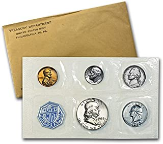 1958 P US Silver Proof Set US Mint Proof Set Original Government Packaging Proof