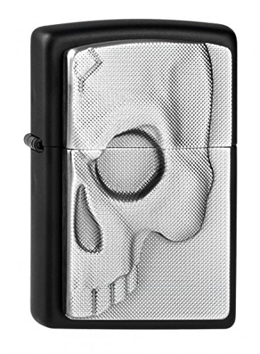 Zippo Zippo Feuerzeug 2003985 Half Skull Emblem Benzinfeuerzeug, Messing Map(language_tag -> De_de)