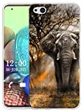 Sunrive Hülle Kompatibel mit ZTE Nubia Z9 Max Silikon, Transparent Handyhülle Schutzhülle Etui Hülle (X Elefant)+Gratis Universal Eingabestift MEHRWEG