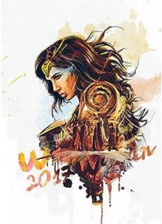 wqmdeshop Wonder Woman Ink Style HD Poster Pintura De Lienzo Decoración De Hogar Habitación De Niños Pintura Sin Marco 50X70Cm (N: 4338)
