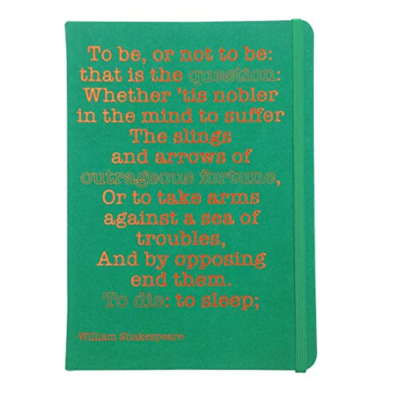 Robert Frederick - A5 Journal for Success - William Shakespeare - Green Cover