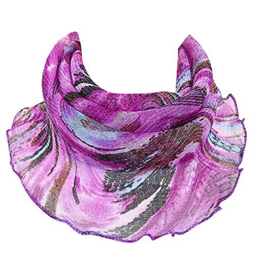 Bylater - Pañuelo para mujer, protección contra el polvo y el sol, ligero
