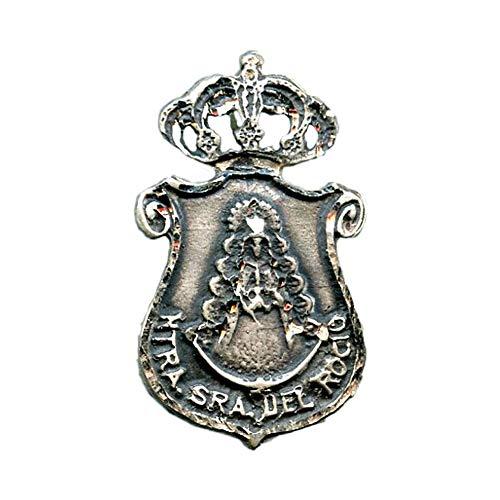 Medalla Virgen DELROCIO Hermandad DE HUELVA 35x20 mm Plata DE Ley