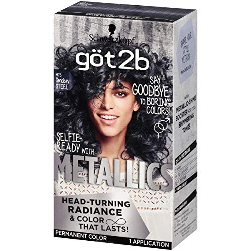 Got2b Metallic Permanent Hair Color, M73 Smoky Steel