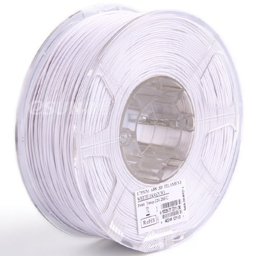 eSUN 3mm White ABS+ 3D Printer Filament 1kg Spool (2.2lbs), White, for 3mm/2.85mm Printers only Such as Lulzbot and Ultimaker