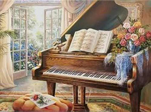 Zyysyzsh Puzzels 1500 Stukjes Volwassen Houten Puzzels Classic Puzzel Vrije Tijd Creatieve Spelletjes,Grote Piano