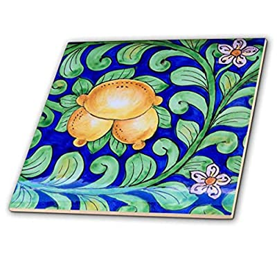 3dRose Italy, Orvieto. Italian pottery plate for sale in the streets. - Ceramic Tile, 6-inch (ct_207991_2)