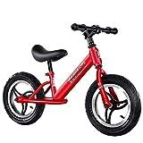 Lihgfw Équilibre for Enfants de vélos, Vélos Non, for Enfants Scooter Deux-Roues coulissantes bébé, garçon et Fille Voiture Jouet compétition, Poussette bébé 2-6 Ans, Noir (Color : Rouge)