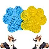 YUDOXN Feeder Alfombrilla para lamer para Perros y Gatos. comedero Perro Gato. Alimentación de Mascotas Juguetes Interactivos para Perros y Gatos(2 Piezas/con Ventosa)