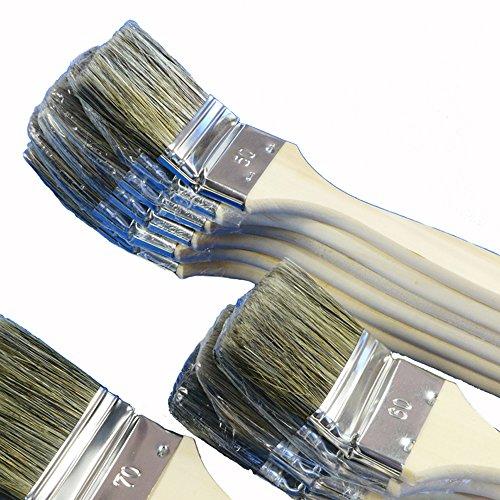 ROTIX-98050 6 X Heizkörperpinsel Ecken-Pinsel 50 mm 2 Zoll graue Mischborste