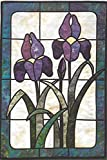 Wild Iris Stained Glass Quilting Pattern BPP 028 from Bear Paw Productions Designed by Brenda Henning Finished Size: 22 x 33
