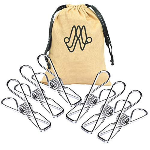 """Chip Clips Silver Utility 30 Pack - 2"""" Wire Clothes Pins and Bag Clips for Food Outdoor Clothesline Heavy Duty Clamp - Stainless Steel Laundry Clip - Multipurpose Metal Pegs Home Kitchen Office"""