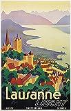 THTHTH Lausanne Poster und Druck Stadt Tourismus Leinwand