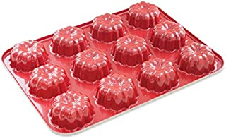 Nordic Ware 12-Cavity Mini Bundt Cupcake Pan, Colors Vary