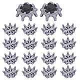 VIDELLY 18 Pieces Golf Shoe Spikes for Golf Shoes,Soft Spike Replacement Cleats Golf Spikes Pins, Easy to Change Studs, Soft Fast Twist Studs,Fits Most Golf Shoes Models,Black & Gray