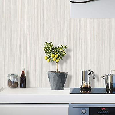 Coavas Modern Decorative Home Wallpaper Peel an...
