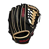 Wilson A2000 11.5-Inch SuperSkin Baseball Glove, Black/Blonde, Right (Left Hand Throw)
