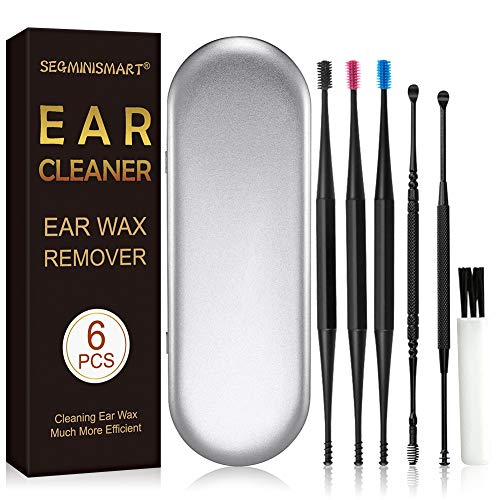 Ohrenreiniger, Ohrenschmalz Entferner, Ohrwachsentferner, Ohrreiniger, Ohrenreiniger Set, Ear Wax Remover, Verhindert Ohrstöpsel, Einteiligem Ohrpflegeset für Babys und Erwachsene, 6Pcs