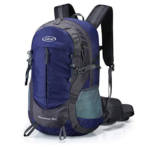 G4Free 35L Wasserdichter Wanderrucksack mit Regenschutz Outdoor Rucksack Trekking Daypacks für Camping Wandern und Klettern