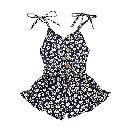 Kobay Frühling und Sommer Kleinkind Mädchen Baby Strampler Sommerkleidung Blumenriemen Einteiliger Strampler Overall