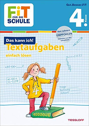 FiT FÜR DIE SCHULE: Das kann ich! Textaufgaben einfach lösen 4. Klasse