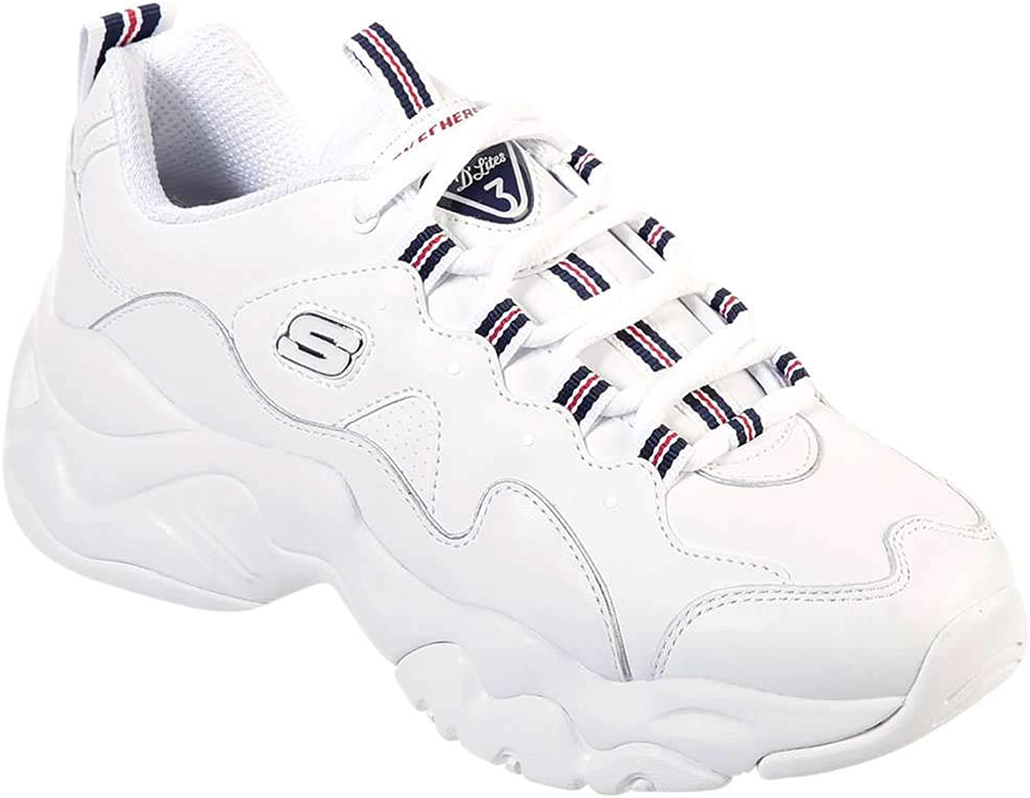 Skechers Women's D-Lites 3 Proven Force Fashion Sneakers White Navy