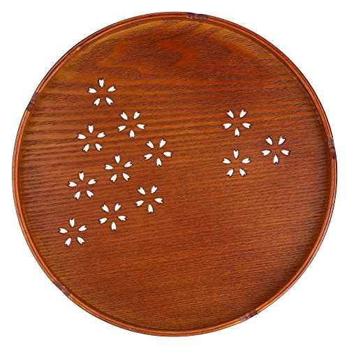 Round Shape Solid Wood Tea Coffee Snack Food Meals Serving Tray Plate Restaurant Trays Modern Stylish Design Cuisine