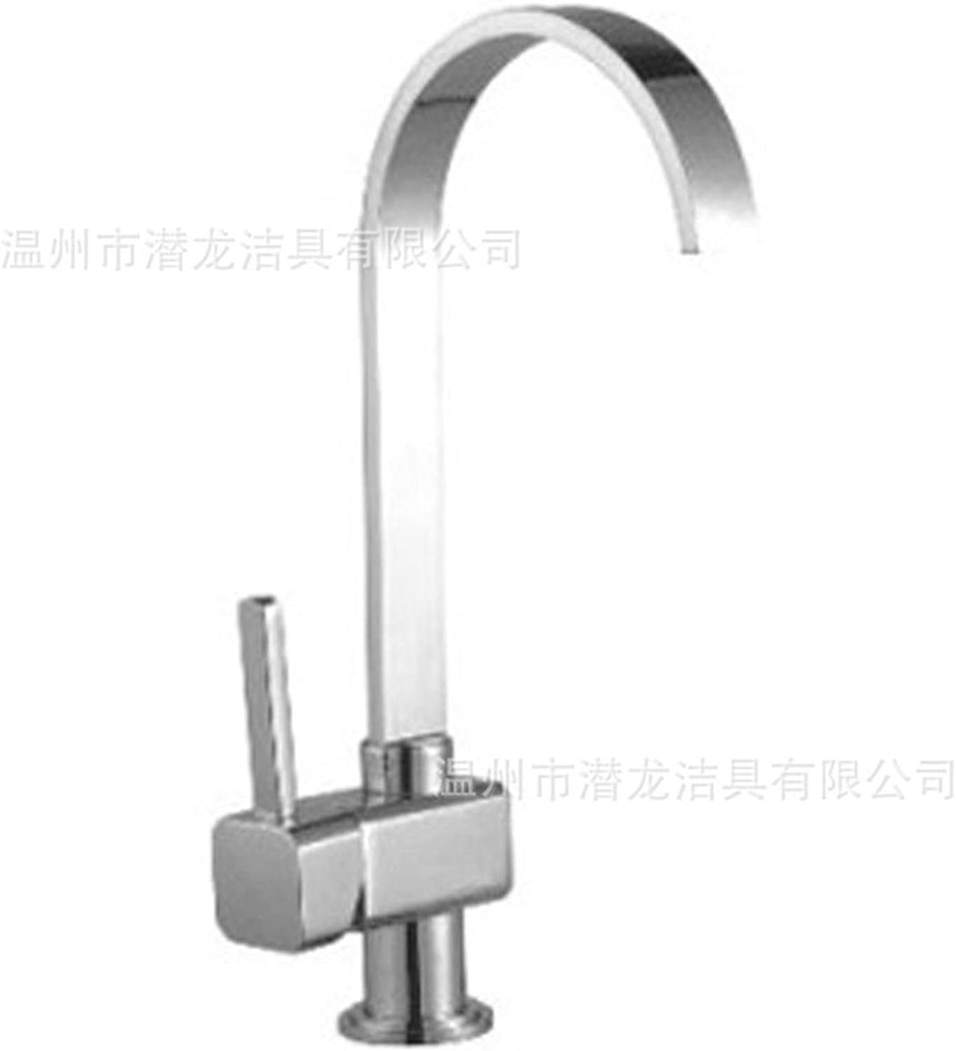 Commercial Single Lever Pull Down Kitchen Sink Faucet Brass Constructed Polished Modern Quartet greenical Kitchen Faucet Mixing Hot and Cold Water Basin Basin Faucet