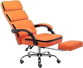 Furniture Mid-Back Black Swivel Ergonomic Task Office Chair with Flip-Up Arms,Orange