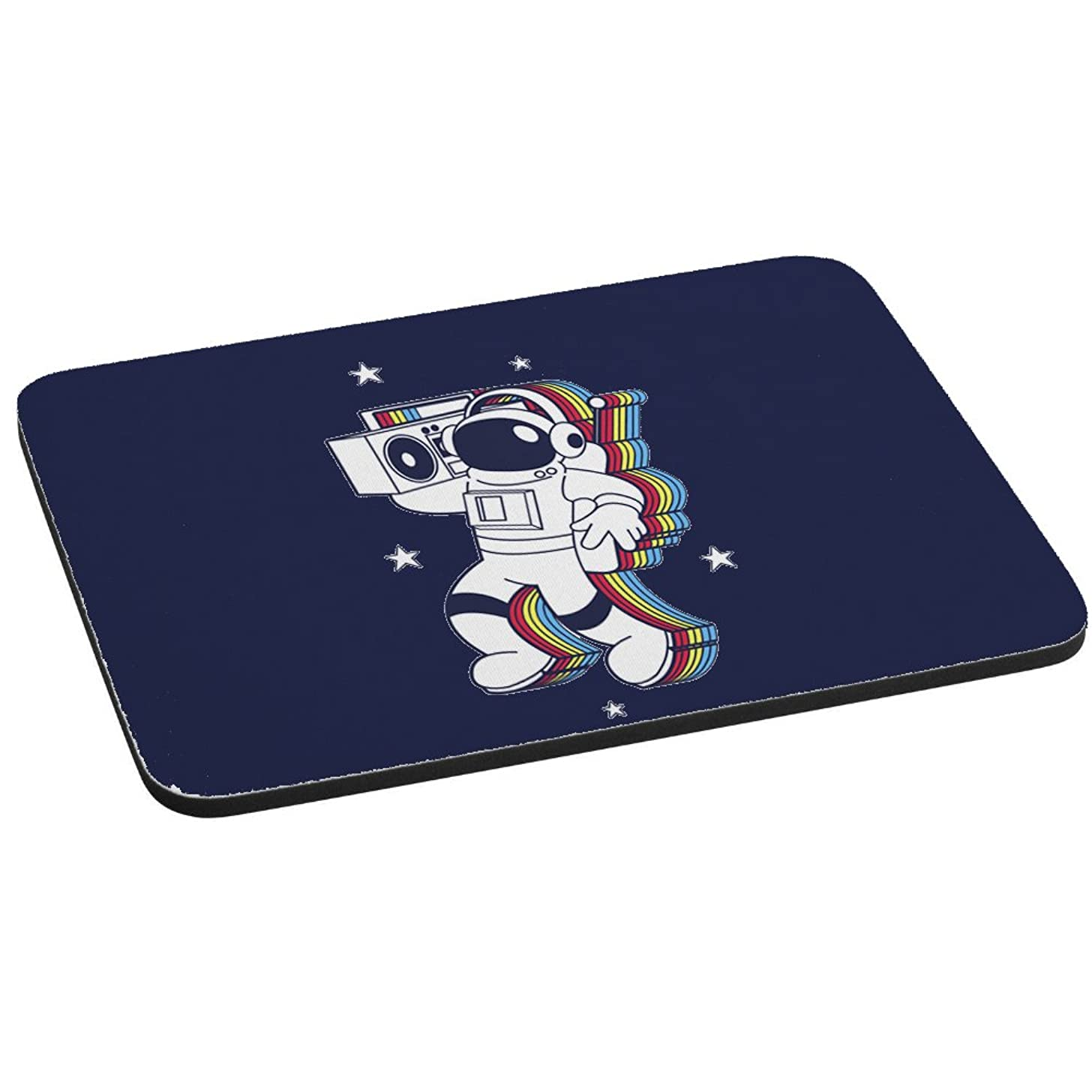 Computer Mouse Pad - Rockin Space Man Astronaut w/Boombox Colorful